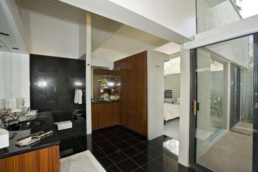 Bathroom in modern residence