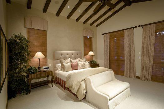Bedroom in luxurious residence