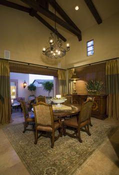 Illuminated luxurious residence interior