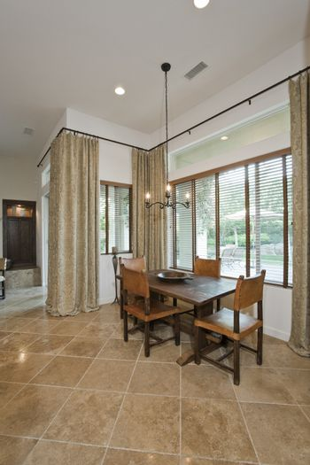 Dining room in residence