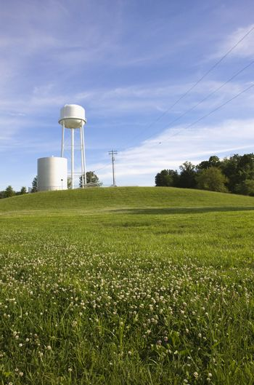 Illinois USA storage tank in field