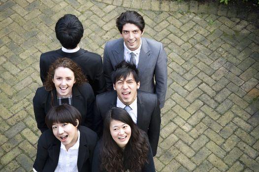 Happy multi ethnic business team