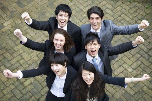 Successful multi ethnic business group