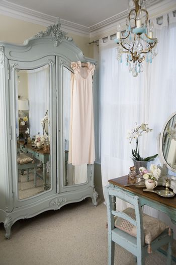 Dressing table in old-fashioned room