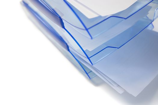 Paper tray on white background