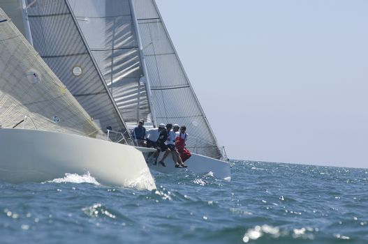 Yachts compete in team sailing event California
