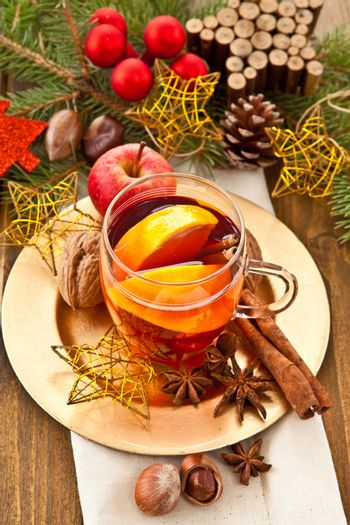 Hot beverage for christmas