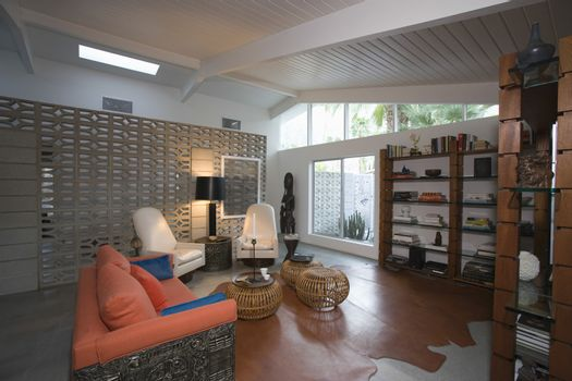 View of modern living room at home
