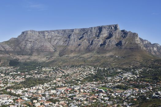 Townscape With Table Mountain