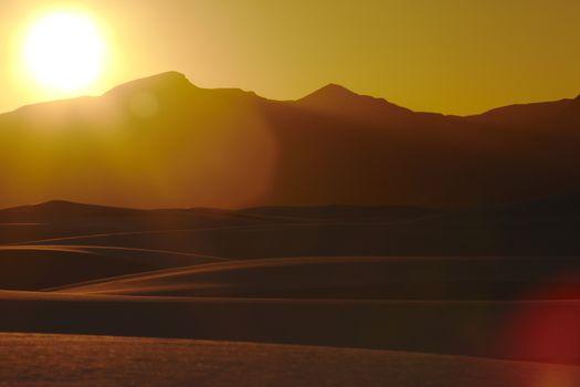 Desert at sunset USA