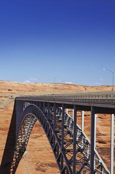 Bridge spanning canyon USA