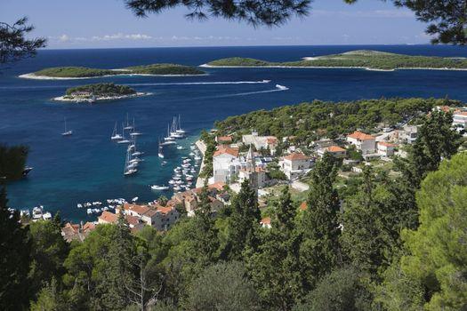 Coastal town in the island of Hvar Dalmatia