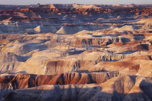 Arid rock formation in North America