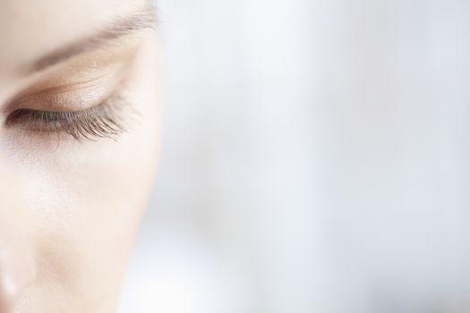 Gold eye shadow on caucasian woman