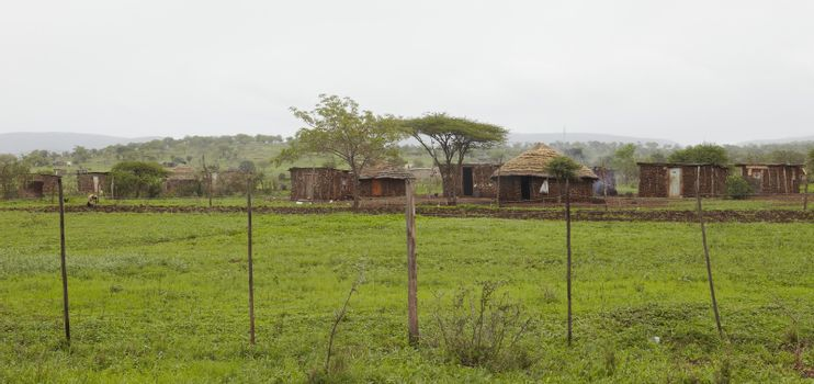 Mut huts in village Africa
