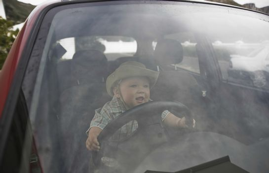 Toddler in the driving seat