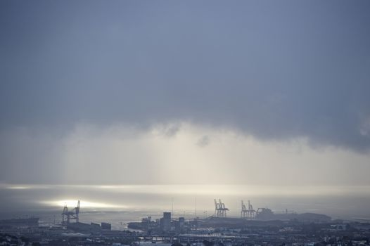 San Francisco docks at dusk