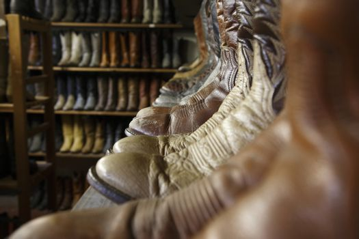 Vintage cowboy boots in Houston texas