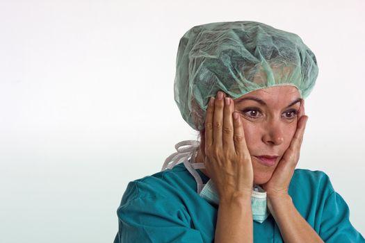 Theatre nurse considering surgery
