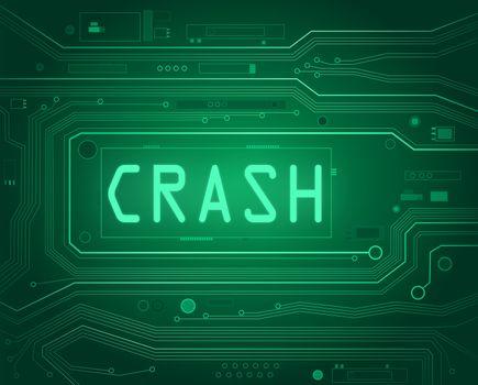 Crash concept.