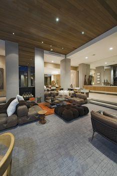 Contemporary Living room of California home