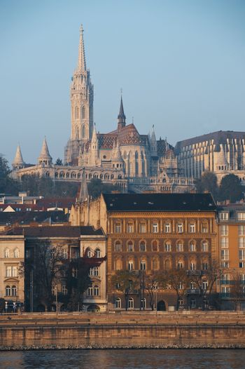 Cityscape of the Hungarian capital  Budapest with the Matthias Church in the background