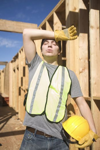 Labourer exhausted on site