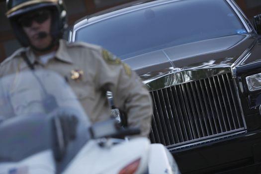 Patrol officer  police escort