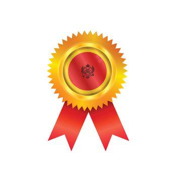 Montenegro medal flag