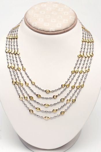 Yellow Gold Five Strand Necklace