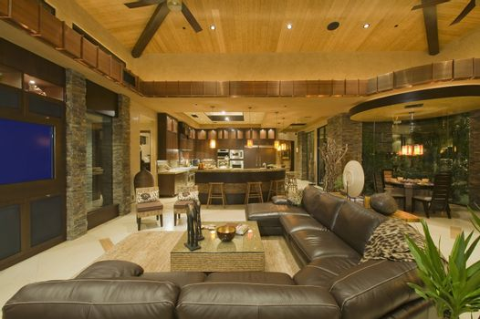 Open planned interior
