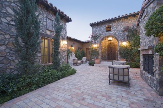Exterior with patio furniture