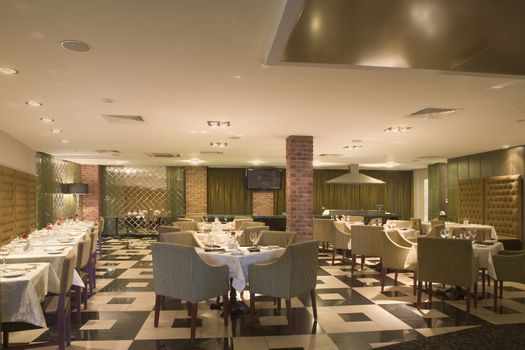 The interior of a hotel dining room