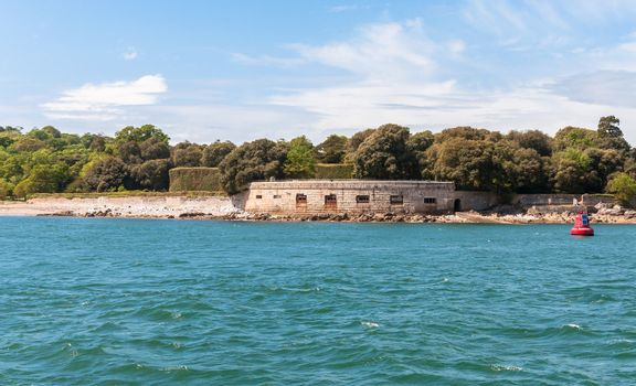 Fortification on a sea shore