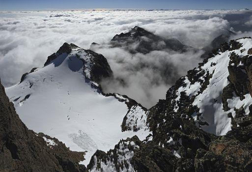 East-view from Hoher Riffler Summit  Verwall Range  Austria