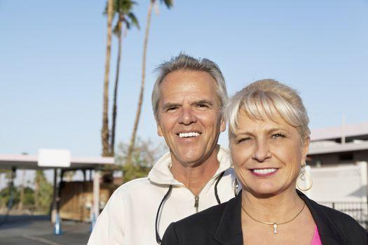 Portrait of a happy mature couple