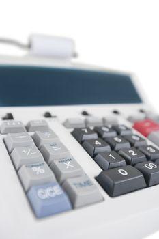 Close-up of office calculator
