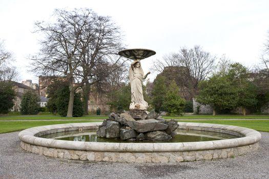 Fountain in Iveagh Gardens, Dublin