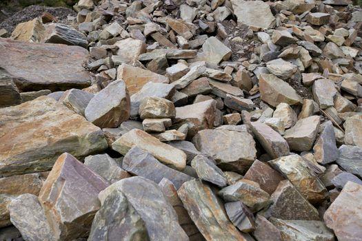 Close up of large rocks at quarry