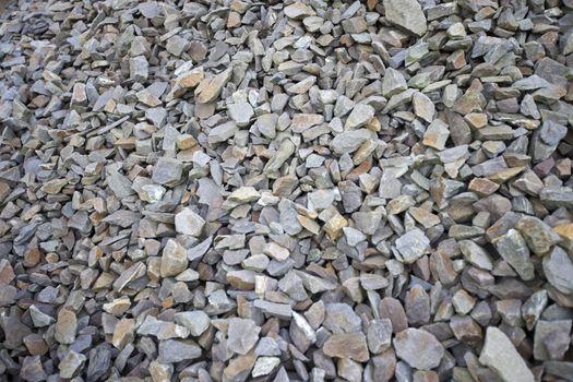 Close-up view of jagged rocks