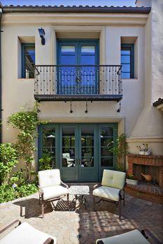 Entrance to a beautiful Mediterranean home exterior