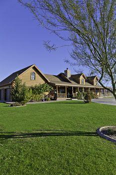 Entrance to a ranch home exterior