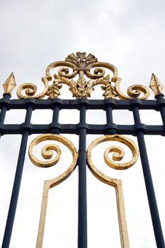 Close up of metal gates