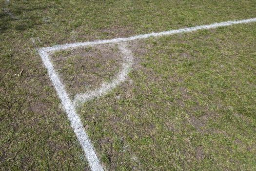 Corner of a Soccer Pitch