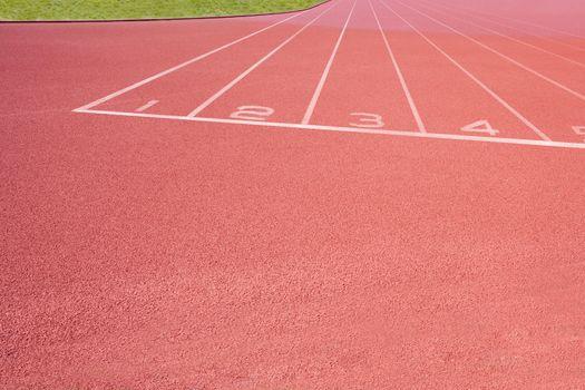 Close-up of Athletics track