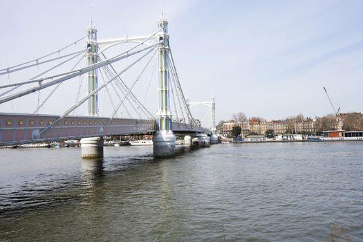 Albert Bridge during the day, London, UK