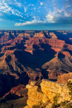Arizona sunset Grand Canyon National Park Yavapai Point