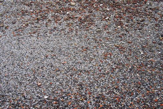 Abstract background of pebbles on the beach