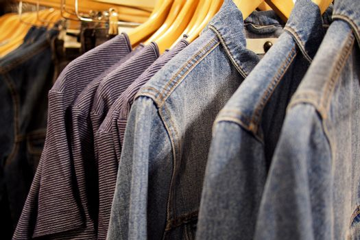 Trendy apparels for sale in a retail store