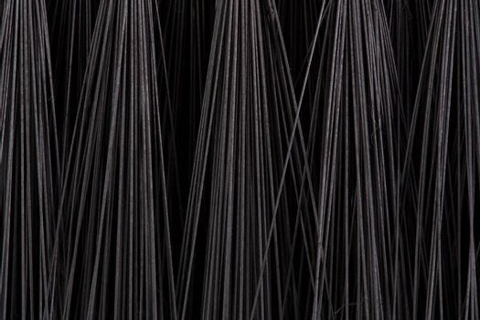 Flooring brush over black background